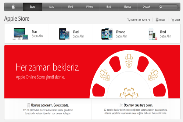 Apple opens online store in Turkey