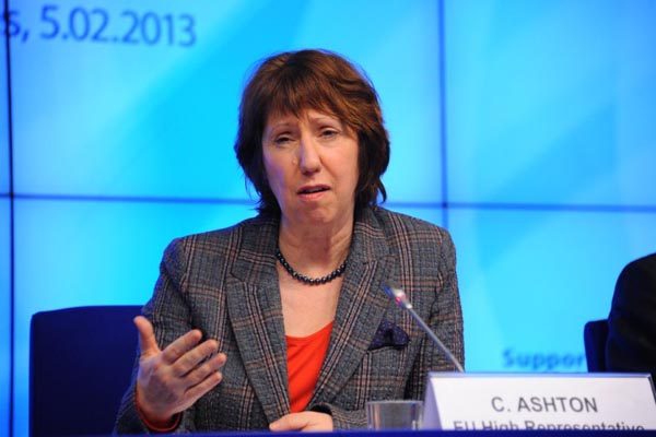 Catherine Ashton says evidence points to Syria govt for chemical attack