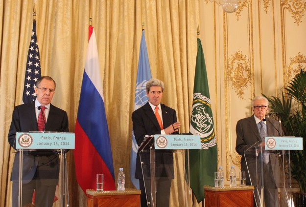 Kerry, Lavrov call for local ceasefire in Syria