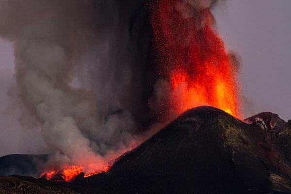 Mount Etna volcano erupts in Italy