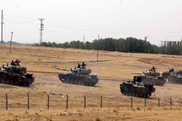 Turkey launches military exercise near Syrian border