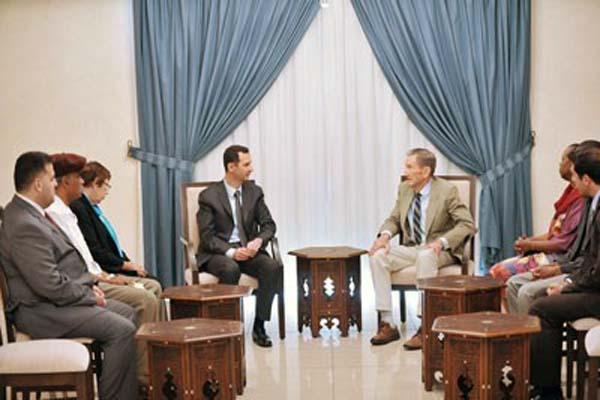 Assad receives Russian, US delegations