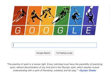 Google doodle points to Olympic Charter