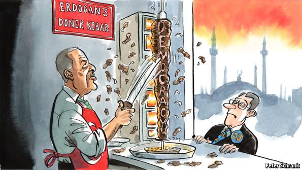 Economist publishes scandal caricature of PM Erdogan