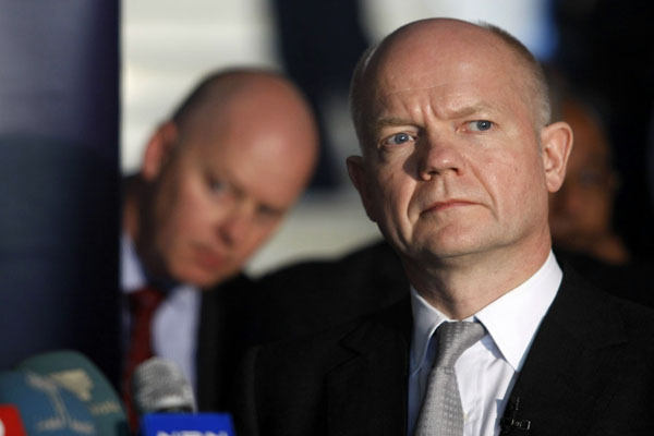 William Hague, 'Assad behind chemical massacre in Syria'