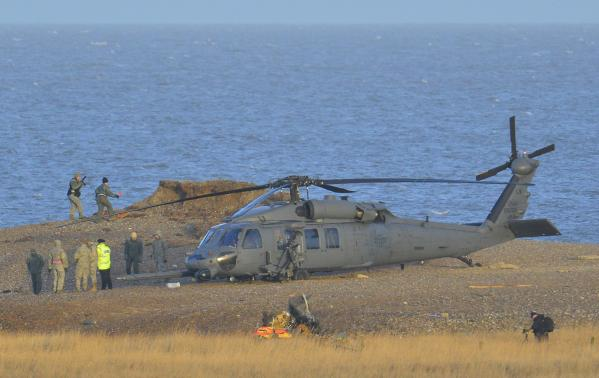 U.S. military helicopter crashes in Britain