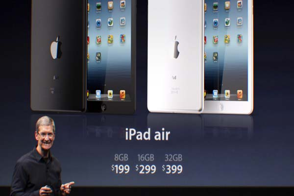 Apple unveils iPad Air, new Macs for holidays