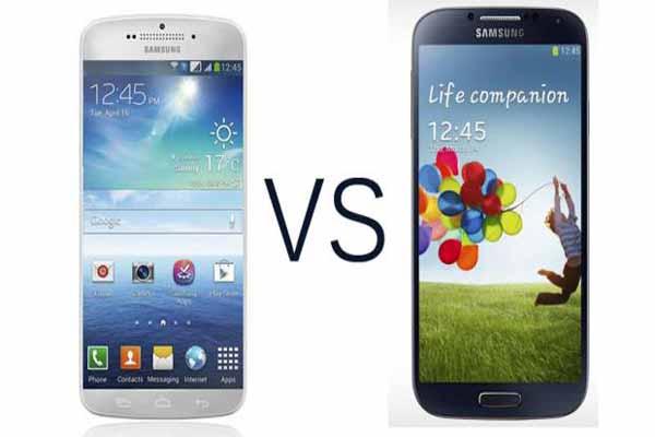 Samsung Galaxy S5  vs Samsung Galaxy S4 comparison