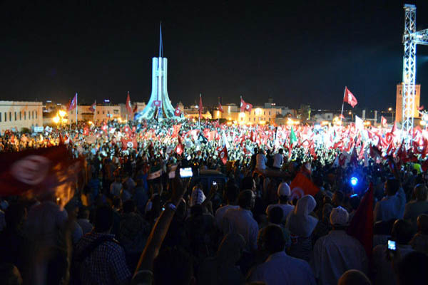 Thousands rally in support of Ennahda in Tunisia