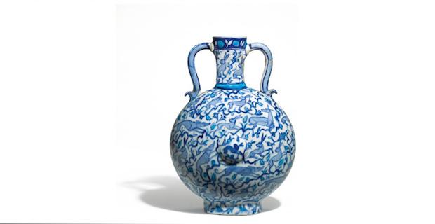 One of a Kind Iznik Pilgrim Flask