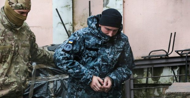 Russian court jails 12 Ukrainian sailors for 2 months