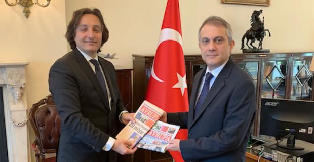 Avrupa Media Group visited Republic of the Turkey's London Ambassador Umit Yalcin
