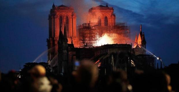 Macron pledges to rebuild Notre Dame Cathedral