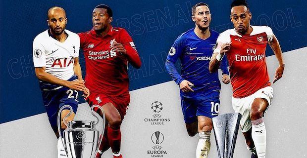 English clubs' final showdown in top UEFA cups