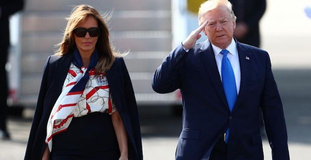 US President Donald Trump arrives for three-day UK state visit