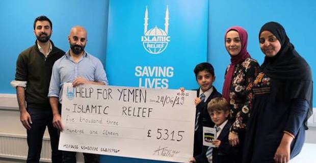 Nine year old London Turkish boy raises more than £5000 for Yemen crisis