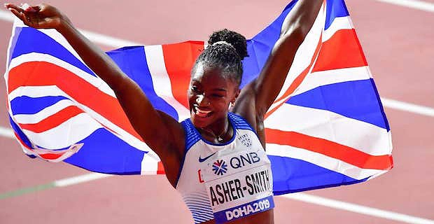 Dina Asher-Smith wins gold at World Athletics Championships