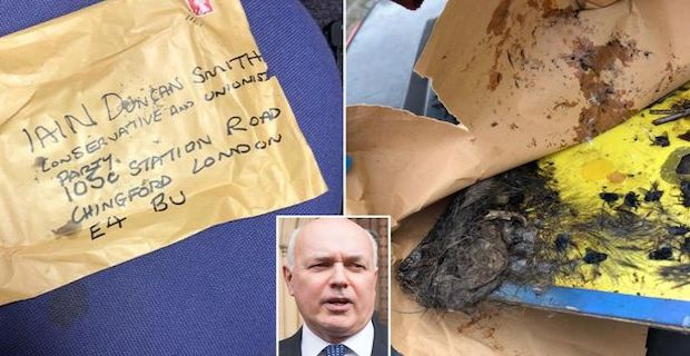 Iain Duncan Smith is sent dead decomposing rat in post