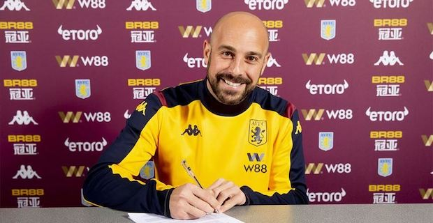 Ex-Liverpool goalkeeper Reina joins Aston Villa on loan