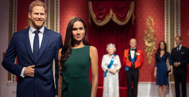 Meghan Markle and Prince Harry waxworks removed from Madame Tussauds Royal Family display