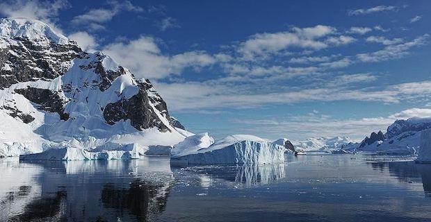Arctic, Antarctica see below mean sea ice in February