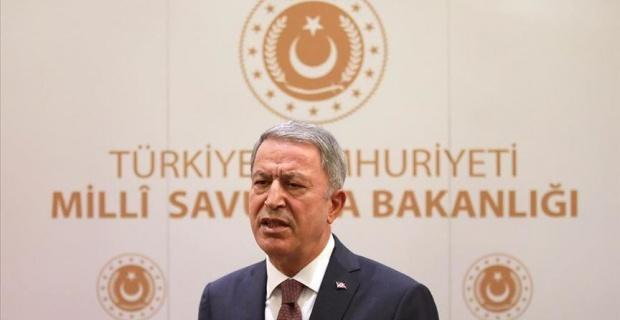 Turkey's Defense Minister Hulusi Akar speaks at UK Turkey forum about Nagorno-Karabakh and East Mediterranean