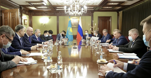 Deputy Prime Minister of Kazakhstan Roman Sklyar the government delegation was in Moscow