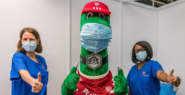 Thousands of over-18s can get first Covid-19 jabs in mass vaccine clinic hosted at Emirates Stadium