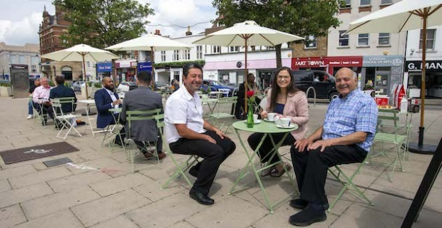 Al fresco dining has been launched in Enfield Town
