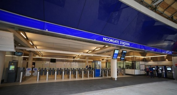 New modern ticket hall with step-free access opens at Moorgate as part of Elizabeth line improvements