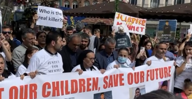 Death of Bournemouth boy Mehmet Altun 13,  his family arranged the demonstration in Bournemouth town centre