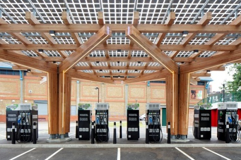 New Electric Vehicle Charging Hub, Glass Yard, Opens in Woolwich
