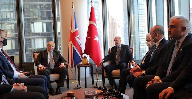 Turkish president meets British premier at Turkevi Center in New York