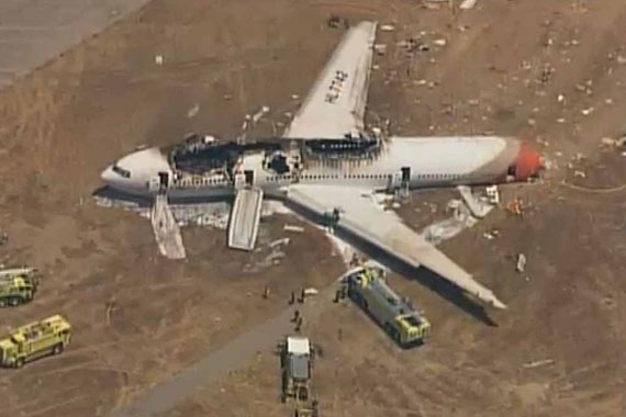 South Korean jet crashes in San Francisco