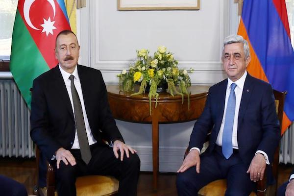 Ilham Aliyev and Serzh Sargsyan discuss Karabakh dispute