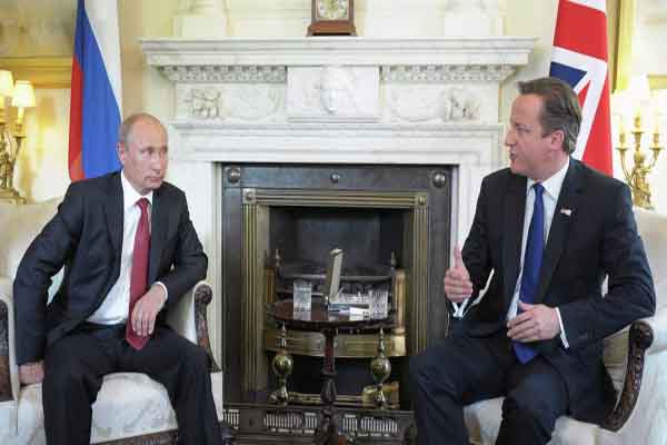 Cameron and Putin discuss Syria