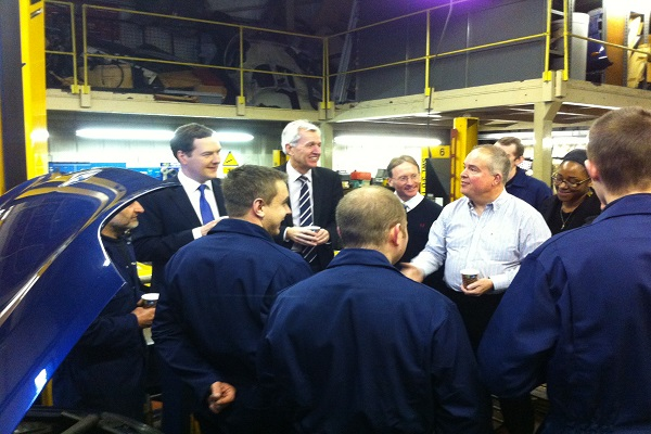 Chancellor of the Exchequer George Osborne visited Enfield