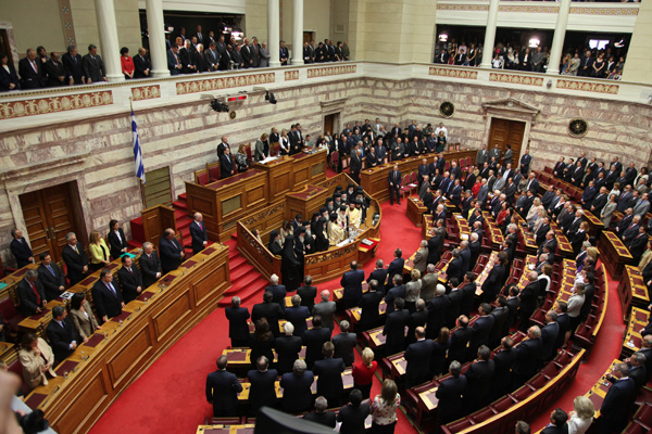 Greek parliament evicts far-right lawmaker