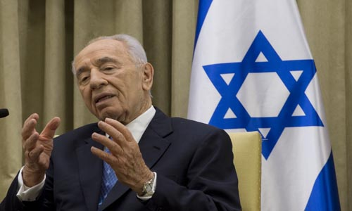 Shimon Peres warns against feud with U.S. over Iran