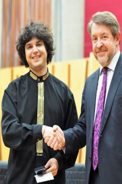 Cellist Jamal Aliyev is the Prince's Prize winner 2017