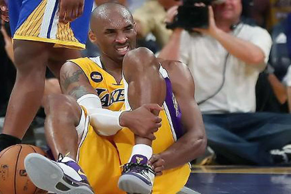 Kobe Bryant suffered an Achilles tendon injury