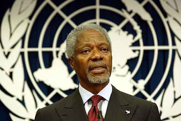 Kofi Annan, 'Stop looting of Africa's resources'