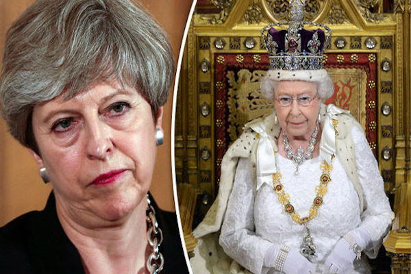 May promises to work with humility says Queen