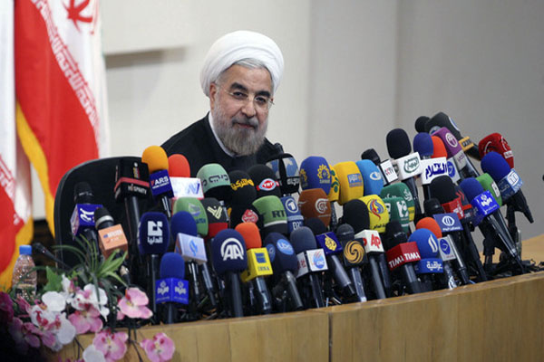 Rouhani calls for 'dialogue' in first speech