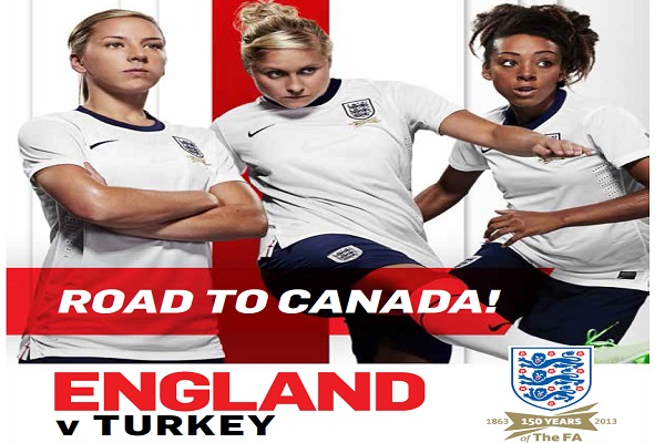 England Turkey  FIFA Women's World Cup 2015 Qualifying match