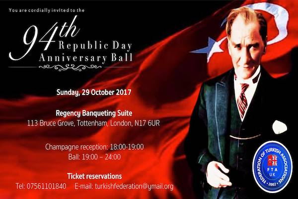 Turkish Republic Day Anniversary ball in London