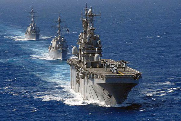 US naval forces move closer to Syria
