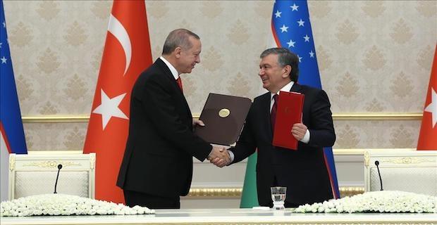 Erdogan, Uzbek counterpart Mirziyoyev discuss politics and military