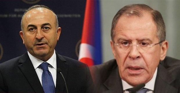 Mevlut Cavusoglu and Sergey Lavrov spoke over the phone