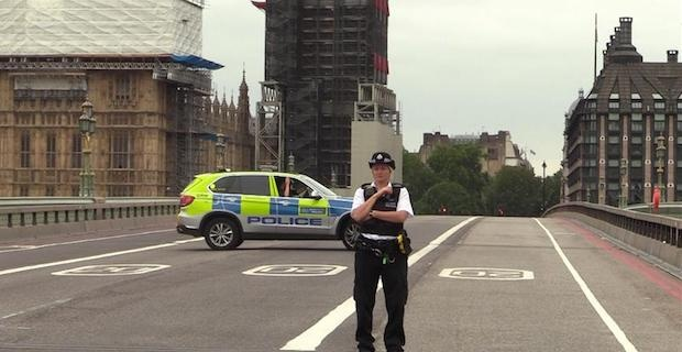 Man arrested after car hits people near parliament
